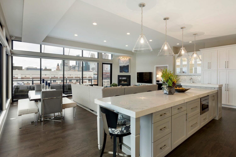 Open Plan Kitchen Living Room Divider